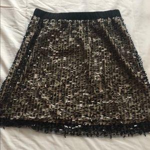 Black/Gold Sequin Skirt
